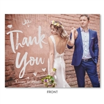 Cute Photo Thank You Card | Cuties heart (100% recycled paper)