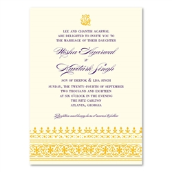 Indian Ethnic Wedding Invitations Dhanyabaad (seeded paper)