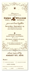 Seeded Wedding Invitations - Wine Back-Country