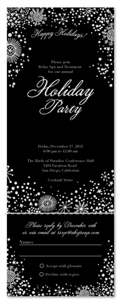 Seal and Send Gala Invitations | Festive Snow *black tie