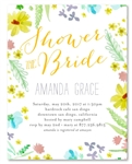 Watercolor Bridal Shower Invitations ~ Floral Grace