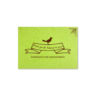 Plantable Thank you notes ~ Green Bird by Green Business Print