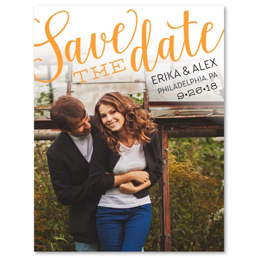 Photo Save the Date | Happy Announcement (100% recycled paper)