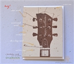 Birthday Greetings - Acoustic Guitar (desert brown garden herbs seeded paper - Chocolate Brown print)
