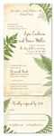 Red Wood theme Wedding Invitations ~ Vintage Lovely Fern (100% recycled paper)