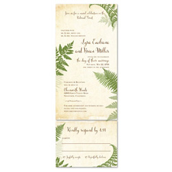 Fern Wedding Invitations | Vintage Lovely Fern (100% recycled paper)