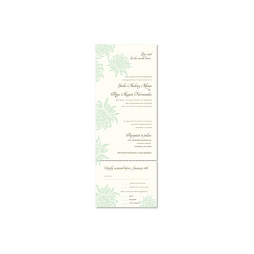 Tropical Wedding Invitations ~ Mahalo (100% recycled paper)