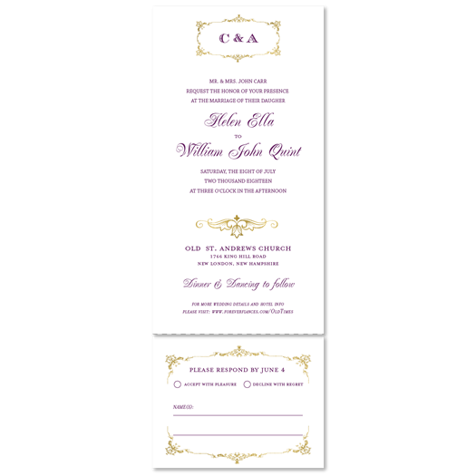 Send n Sealed Invitations ~ Medallion Bourgeois (100% recycled paper)