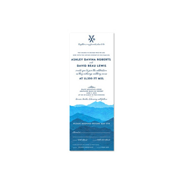 Colorado Misty Mountains Wedding Invitations (100% recycled linen paper)