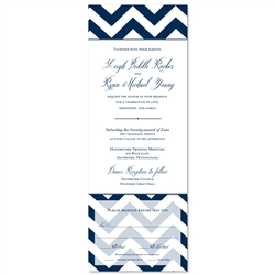 Send n Sealed Invitations ~ Modern Chevron(100% recycled antique paper)
