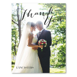 Photo Thank You Card | Modern For Ever (100% recycled paper)