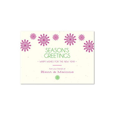 Plantable Business Holiday Cards | Modern Snow