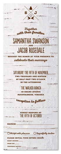 Birch Tree Wedding Invitations | Mountain Birch (100% recycled paper)