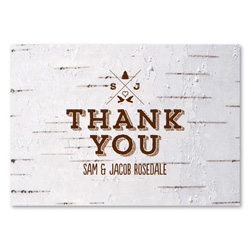 Birch Thank you cards | Mountain Lodge