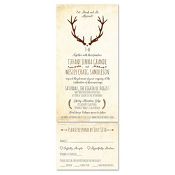 Rustic Wedding Invitations | Ohio Creek Cabin (100% recycled paper)