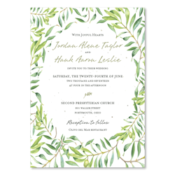 Olive branches Wedding Invitations | Olive Blessings