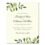 Elegant Save the Date - Olive de Toscane (seeded paper)