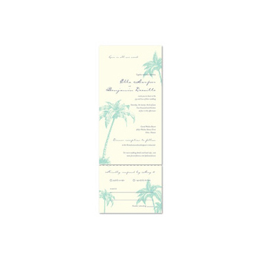 Beach Wedding Invitations ~ Palms & Coconuts (100% recycled paper)