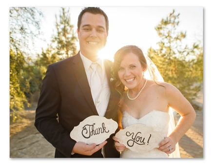Photo Wedding Thank You Post Cards