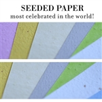 Plantable Paper, Seeded Paper, Wildflower seeded paper, Plantable Herb Paper