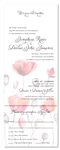 poppy Watercolor wedding Invitations poppies