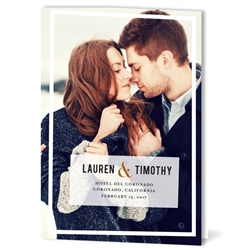 Foldover Photo Wedding Programs | Premium Picture (recycled paper)