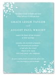 Winter Wedding Invitations | Romance (100% recycled) Aqua Watercolor
