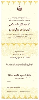 Indian Plantable Wedding Invitations - Shantih (seeded paper)