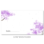 Spring Tree Wedding Place Cards | Purple Spring Blooms