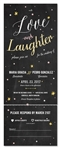 Seal and Send Wedding Invitations - Starry Night (100% recycled chalk paper)