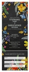 Chalkboard Floral Wedding Invitations Wedding Invitations | Summer Stories (100% recycled chalk paper)