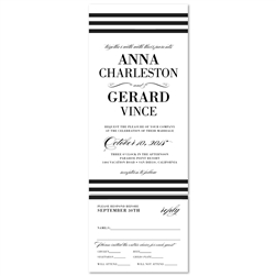 Elegant Wedding Invitations with stripes