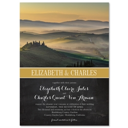 Sunrise Wedding Invitations | Tuscany Hills