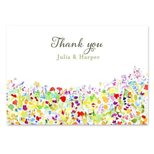 Wildflowers Prairie Thank you cards by ForeverFiances Weddings