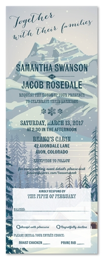 Mountain Wedding Invitations | Beaver Creek, CO (all in one format)