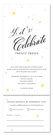 All in One Business Invitations | Let's Celebrate by Green Business Print