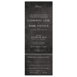 Seal and Send Elegant Wedding Invitations - Classic Chalk(100% recycled chalk paper)