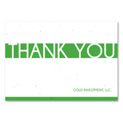 Seeded Business Thank you notes | Clear Stripe