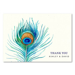Watercolor Thank you cards (plantable) by ForeverFiances Weddings