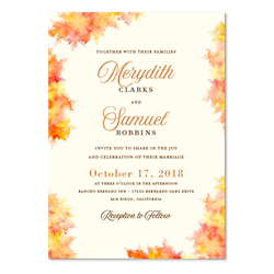 Fall Wedding Invitations | Fall Colors