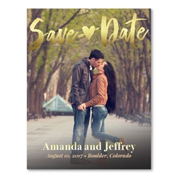 Photo Save the Date for weddings | First Kiss (100% recycled paper)