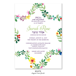 Floral Star Bat Mitzvah Invitations | Star of david flowers woven  (non-plantable recycled)