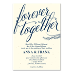 Gorgeous wedding invitations | Forever Together on cream premium paper