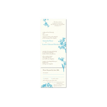 Seal and send wedding invitations ~ Forget Me Not