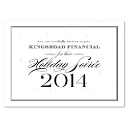 Holiday Party Invitations on plantable paper ~ Formal Financial by Green Business Print