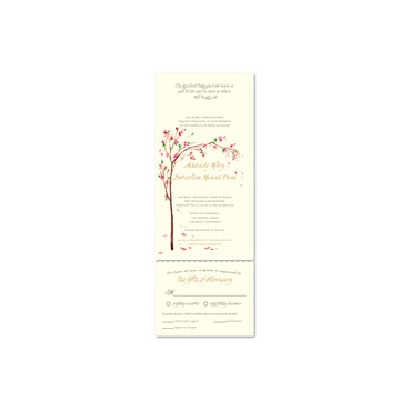 Send n Sealed Invitations ~ Golden Blooms Tree