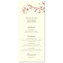 Unique Wedding Menu ~ Golden Blossoms Tree