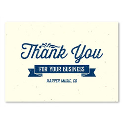 Business Thank you notes ~ House Blend by Green Business Print