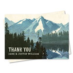 Lake Tahoe Thank you cards on vintage 100% recycled paper.
