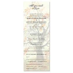 Send n Sealed Wedding Invitations ~ Mighty Fall Tree